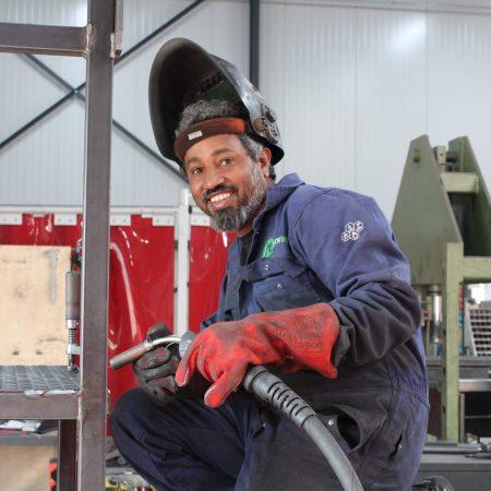 Amanuel Haileab Fsihaye Constructiebankwerker
